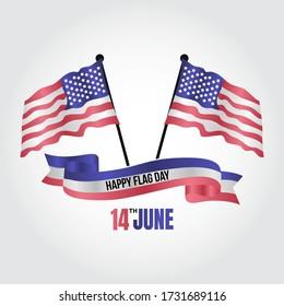 USA Flag Day Vector Illustration