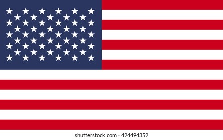 USA flag. Flat illustration of USA flag logo vector for web and digital