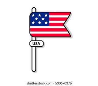 USA flag. Icon.