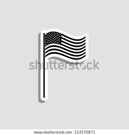 5ee039cad2c USA Flag Icon Vector Sticker Stock Vector (Royalty Free) 552570871 ...