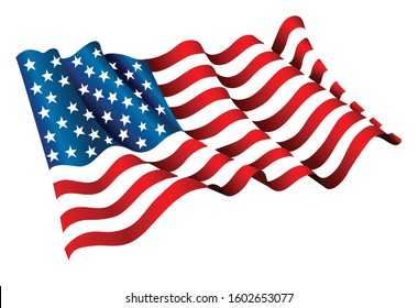 USA flag icon. vector flag symbol