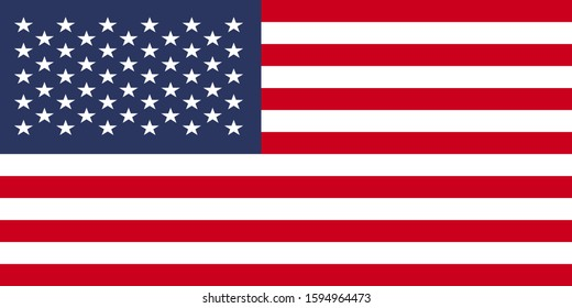 usa flag illustration vector. rectangle design. square design.