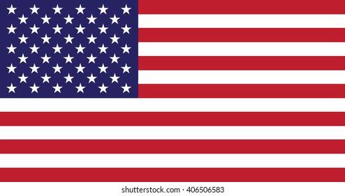 USA flag - isolated vector