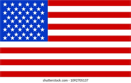 USA flag. Official colors and proportion correctly. Vector illustration of american flag.