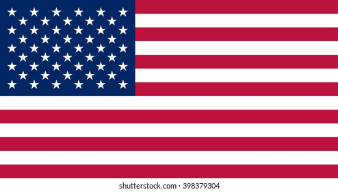 USA flag. official colors and proportion correctly. National United State of America flag. Vector illustration of american flag. EPS10.