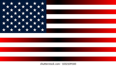 USA Flag in the original size