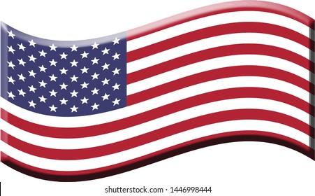 usa flag pin vector design