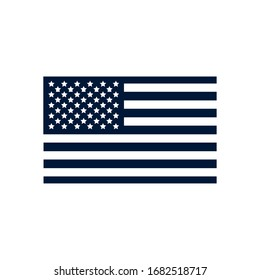 Usa flag silhouette style icon design, United states america independence day nation us country and national theme Vector illustration