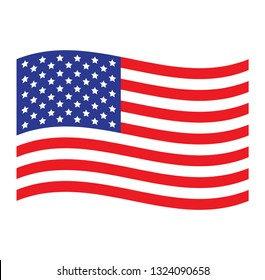 USA flag. Simple vector American flag