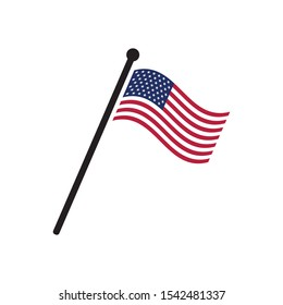 USA flag. United States America. Vector illustration design for poster, textile, banner, t shirt graphics, fashion prints, slogan tees, stickers, cards, decoration, emblem and other creative uses