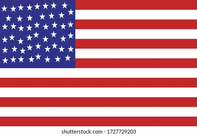 USA flag vector. eps 10 illustration
