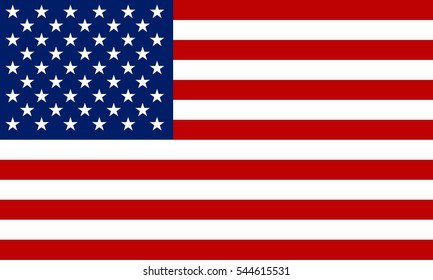 USA flag vector icon.