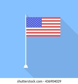 USA flag. Vector illustration .