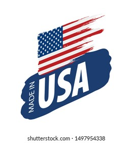 USA flag, vector illustration on a white background