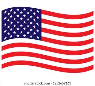 USA flag wave background
