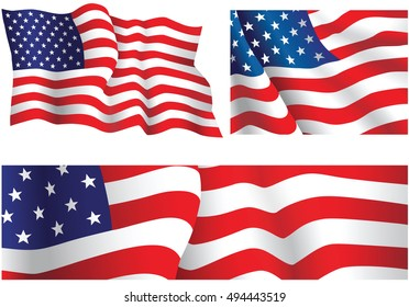 USA flags.