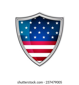 USA glossy label or badge on a white background/vector illustration