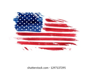 USA grunge flag. Vector abstract grunge flag. Template for United States of America national holiday banner, greeting card, invitation, poster, flyer, etc.