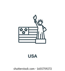 Usa icon. Simple line element Usa symbol for templates, web design and infographics