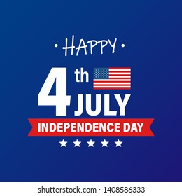 USA Independence Day 4th of July holiday. United states of America flag. Happy independence day banner. Memorial day. American background. Vector illustration.