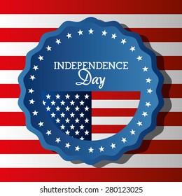 USA independence day card design, vector illustration.