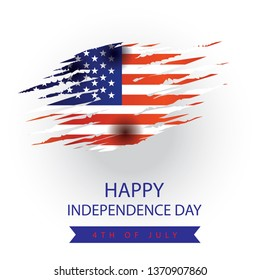 USA Independence day cards. Template of various 4 july labels of America identity vector illustration - Vector