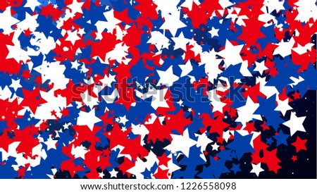usa independence day colors of american flag invitation background banner christmas