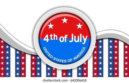 USA independence day Vector background.