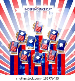 USA Independence day vector design