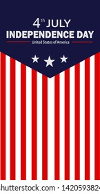 USA Independence Day Vector Illustration. Fourth of July Graphic Concept For Banner, Card, Flyer, etc.