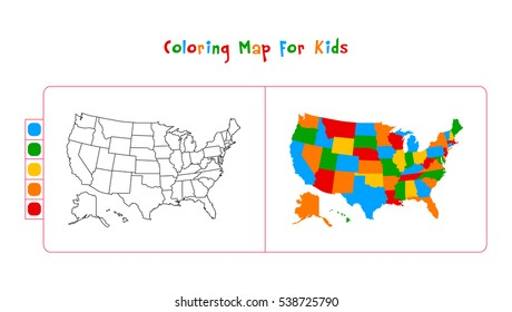 Kids Usa Map.Kids Usa Map Stock Illustrations Images Vectors Shutterstock