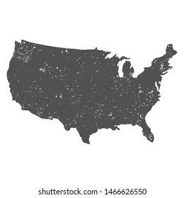 USA map with grunge effect