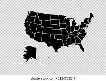 Usa Map Transparent Background Images Stock Photos Vectors