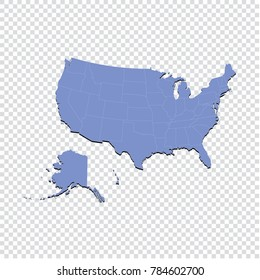 Usa Map Transparent Background Images Stock Photos Vectors