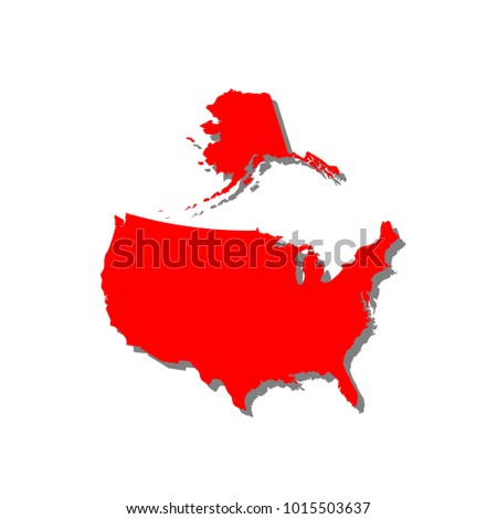Usa Map Icon Stock Vector Royalty Free 1015503637 Shutterstock