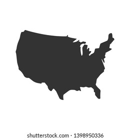 The USA Map Icon. Geographic Illustration As A Simple Vector, Trendy Sign & Symbol for Design and Websites, Presentation or Application.
