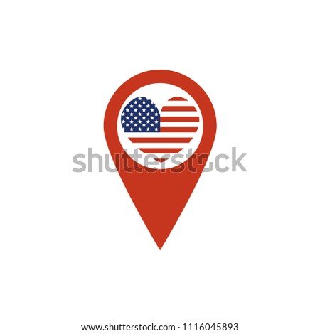Usa Map Icon Sign Vector Stock Vector Royalty Free 1116045893