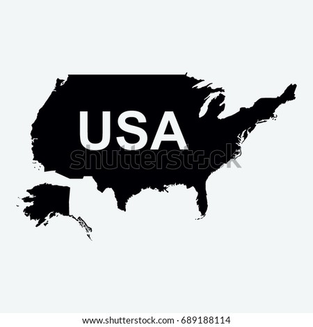 Usa Map Icon Vector Stock Vector (Royalty Free) 689188114 - Shutterstock
