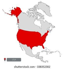 USA Map of North America