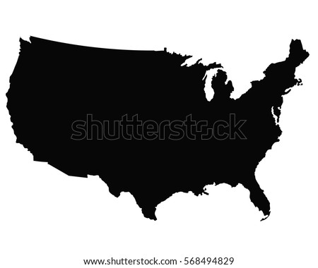 USA Map Outline Vector Stock Vector (Royalty Free) 568494829 ...