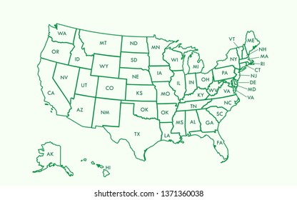 States Names Images, Stock Photos & Vectors | Shutterstock
