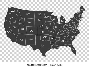 Usa Map With States Black And White on white map of usa states, map of 50 us states, black and white map of usa with c d, black and white canada map with provinces, black us map, black united states map,