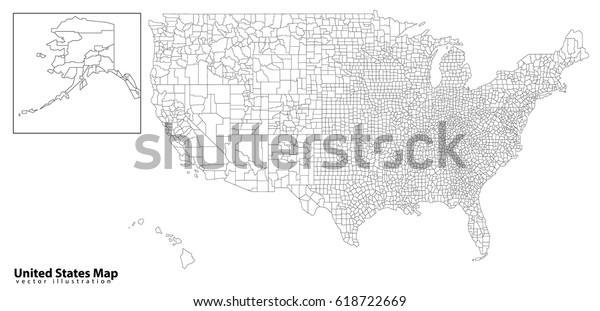 Usa Map States Capital Cities Stock Vector (Royalty Free ...