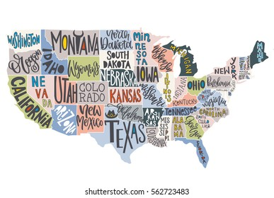 Usa Map States Images Stock Photos Vectors Shutterstock