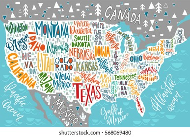 Usa Map Hand Drawn Images, Stock Photos & Vectors | Shutterstock