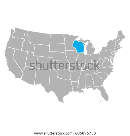 Usa Map Vector Background Stock Image | Download Now