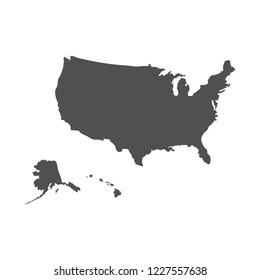 USA map vector eps10