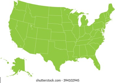 usa map vector ilration with federal states source outline map of the united states