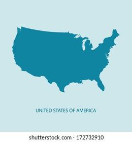 USA mapový vektor, US MAP VECTOR, Spojené státy americké, MAP VECTOR