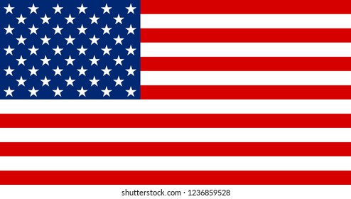 USA national flag. United states of America application Language Symbol. Country of manufacture icon. Sticker with national flag Symbol of nation for infographics, web.